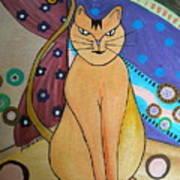 Super-cat Art Print