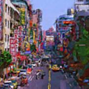 Super Colorful City Art Print