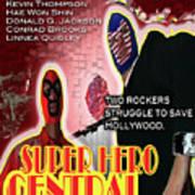Super Hero Central Art Print