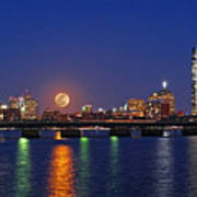 Super Moon Over Boston Art Print by Juergen Roth