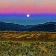 Super Moon Over Taos Art Print