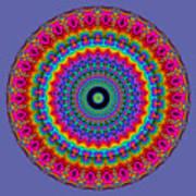 Super Rainbow Mandala Art Print