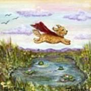 Superdog Buttons Art Print
