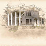 Superintendent's Home Drawing Art Print