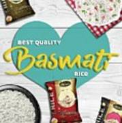 Superior Quality Basmati Rice Importers In New Zealand - Kashish Food Art Print
