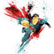 Superman Abstract Art Print