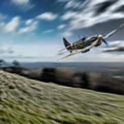 Supermarine Spitfire Fly Past Art Print