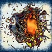 Supernova In Harlequin Art Print