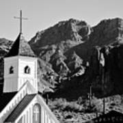 Superstition Mountain And Elvis Church Art Print