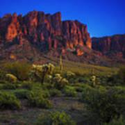 Superstition Mountain Sunset Art Print
