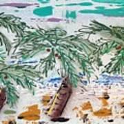 Surf And Palms Art Print