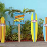 Surf Boards At Ron Jon's Art Print