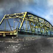 Surf City Nc Swing Bridge Art Print