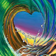 Surf Love Clark Little By Luke Art Print