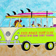 Surf School Art Print