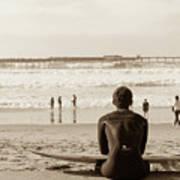 Surf Watcher Art Print