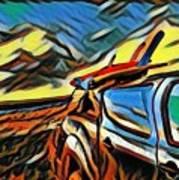 Surfari Time Art Print