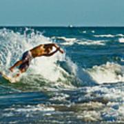 Surfboarding In Florida Art Print