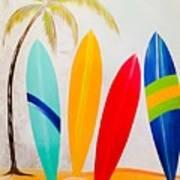 Surfboards II Art Print