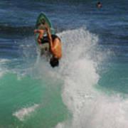 Surfer Action Hawaii Art Print