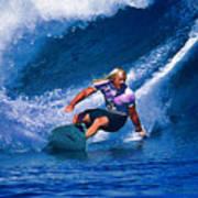 Surfer Dude Catching A Wave Art Print