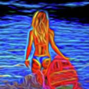 Surfer Girl 13218 Art Print