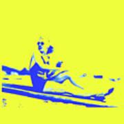 Surfer Girl 1940s Art Print