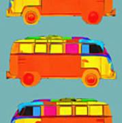 Surfer Vans Art Print