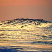 Surfers Gold Art Print