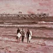 Surfers Three Art Print