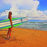 Surfing 19518 Art Print