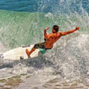 Surfing Action  Art Print