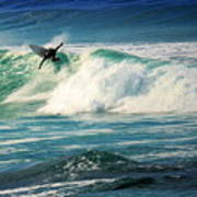 Surfing Asilomar Two Art Print