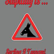 Surfing Bigstock  Donkey 171252860 Art Print
