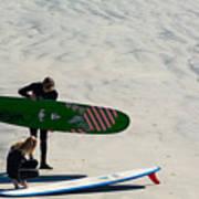 Surfing Couple Art Print