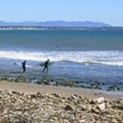 Surfing In Ventura Ca Art Print