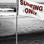 Surfing Only Fusion Art Print