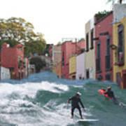 Surfing Quebrada Art Print