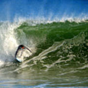 Surfing The Winter Atlantic Art Print