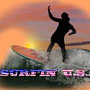 Surfing U.s.a. Art Print