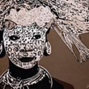 Surma Girl Art Print