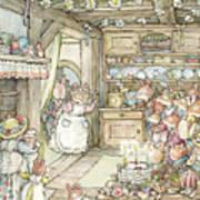 Surprise At Mayblossom Cottage Art Print