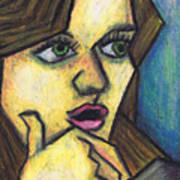 Surprised Girl Art Print by Kamil Swiatek