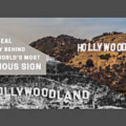 Surprising Facts Of Hollywood Sign Art Print