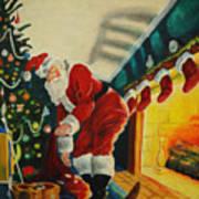 Surprising Santa Art Print
