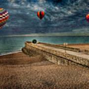 Surreal Beach Art Print