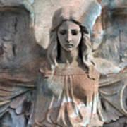 Surreal Fantasy Dreamy Angel Art Wings Art Print by Kathy Fornal