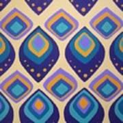 Surreal Peacock Pattern Design. Art Print