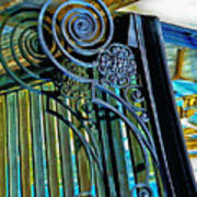 Surreal Reflection And Wrought Iron Art Print