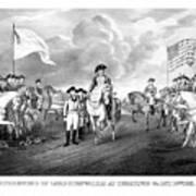 Surrender Of Lord Cornwallis At Yorktown Art Print